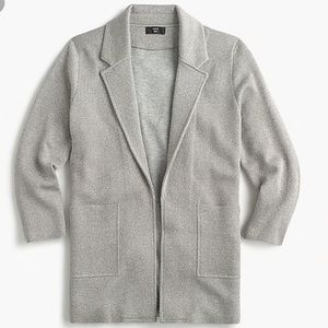J Crew Sparkly Sophie open-front sweater blazer